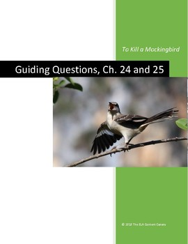 To Kill a Mockingbird Guiding Questions, Ch. 24 and 25