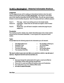 To Kill a Mockingbird - Historical Brochure