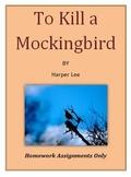To Kill a Mockingbird Homework Activities Only