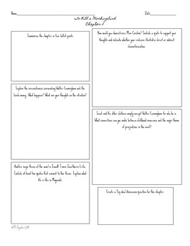 To Kill a Mockingbird Homework Graphic Organizers Chapters 2-30!