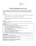 To Kill a Mockingbird In-Class Essay Exam