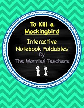 To Kill a Mockingbird Interactive Literature and Grammar Notebook Foldables