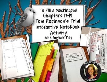 To Kill a Mockingbird Interactive Notebook Trial Organizer Ch. 17-19