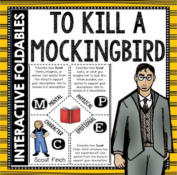 To Kill a Mockingbird: Reading and Writing Interactive Notebook Foldable