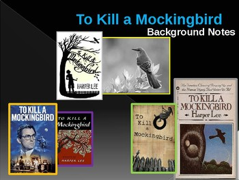 To Kill a Mockingbird Intro and chapter notes powerpoint