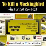 To Kill a Mockingbird Introduction (Historical Context) - Prezi