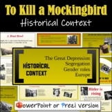 To Kill a Mockingbird Introduction (Historical Context) -