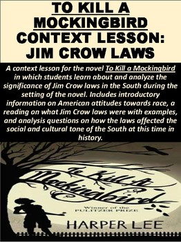 To Kill a Mockingbird Context Lesson: Jim Crow Laws