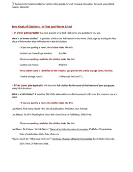 To Kill a Mockingbird Jim Crow Research Paragraph