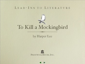 To Kill a Mockingbird Lead-Ins to Literature