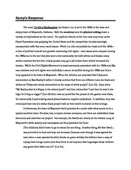 To Kill a Mockingbird - Literary Analysis Chapters 1-6 and Sample Analysis