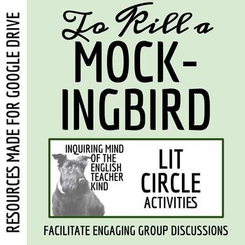 To Kill a Mockingbird Literature Circle Materials (Word Doc, Google Doc & PDF)