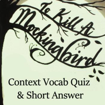 To Kill a Mockingbird Literature Pair -Context Vocabulary & Constructed Response