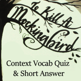 To Kill a Mockingbird Literature Pair -Context Vocabulary & Constructed Response