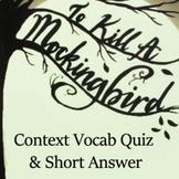 To Kill a Mockingbird Literature Pair -Context Vocabulary