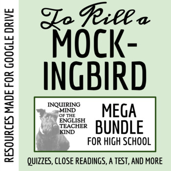To Kill a Mockingbird Mega Bundle: Reading Guide, Quiz Set (of 13), Test & Keys