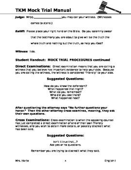 To Kill a Mockingbird Mock Trial