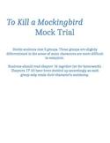 To Kill a Mockingbird Mock Trial Unit