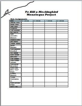 To Kill a Mockingbird Monologue Project