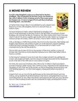 To Kill a Mockingbird - Movie Guide (Reed Novel Studies)