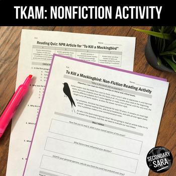 To Kill a Mockingbird: Non-Fiction Reading Activity