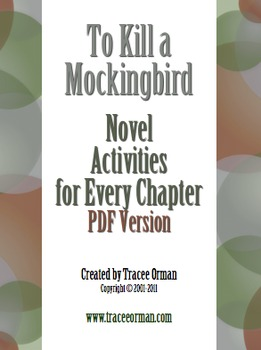To Kill a Mockingbird Novel Activities for Every Chapter
