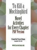 To Kill a Mockingbird Novel Activities for Every Chapter