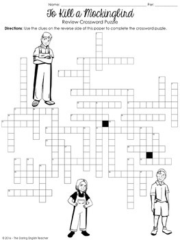 To Kill a Mockingbird Crossword Puzzle