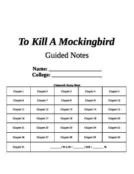 To Kill a Mockingbird Novel Study Questions Answer Key!