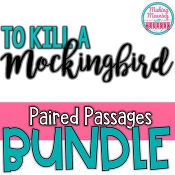 To Kill a Mockingbird - Paired Passage BUNDLE