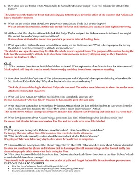 To Kill a Mockingbird: Part 1 Notes and Reading Guide