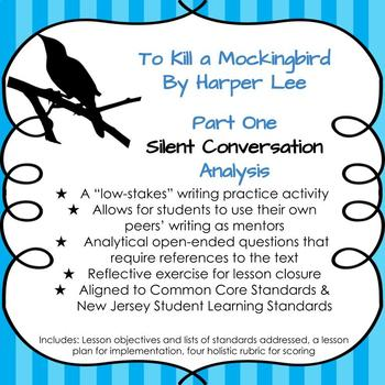 To Kill a Mockingbird Part 1 Silent Conversation Activity and Lesson Plan