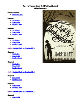To Kill a Mockingbird Part 1 Study Guides & True / False Quizzes