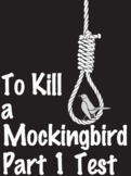 EDITABLE To Kill a Mockingbird Part 1 Test-100 Question w/