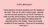 To Kill a Mockingbird Part 1 comprehension questions