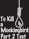 EDITABLE To Kill a Mockingbird Part 2 Test-100 Question w/