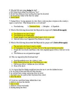 To Kill a Mockingbird Part 2 Test