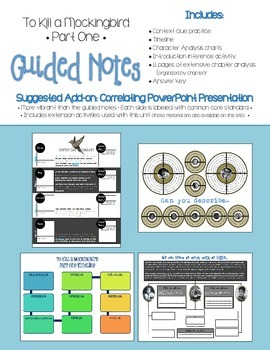To Kill a Mockingbird Part One Guided Notes