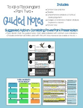To Kill a Mockingbird Part Two Guided Notes