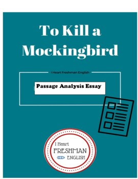 to kill a mockingbird passage analysis paper example and rubric