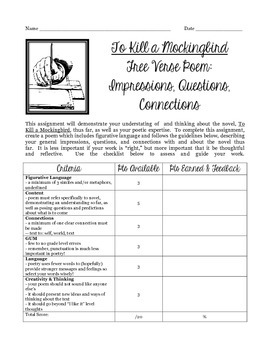To Kill a Mockingbird Poetry Mini-Unit