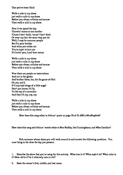 To Kill a Mockingbird---Poetry and Music
