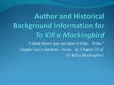 To Kill a Mockingbird PowerPoint: Building a Background