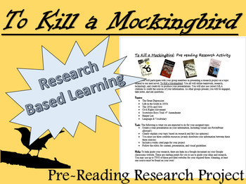 To Kill a Mockingbird Pre Reading Research