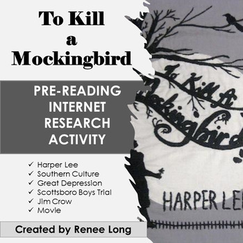 To Kill a Mockingbird Pre-Reading Research Internet Activity