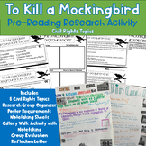 To Kill a Mockingbird Pre Reading Research Poster Activity