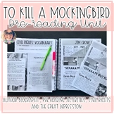 To Kill a Mockingbird Pre Reading Unit