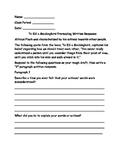 To Kill a Mockingbird Prereading Writing Response