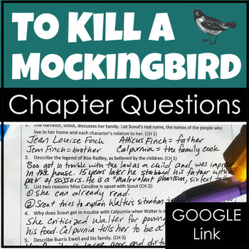 To Kill a Mockingbird Chapter Questions with Comprehension