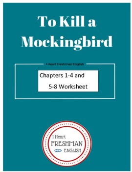 To Kill a Mockingbird Questions Chapters 1-8 with KEY